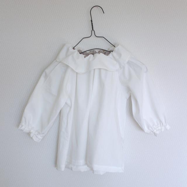 kids white blouse -cotton lawn-   100