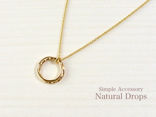 14kgf Double Ring Pendant Necklace・・・399
