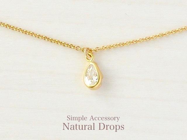14kgf Drop Zirconia Necklace・・・404