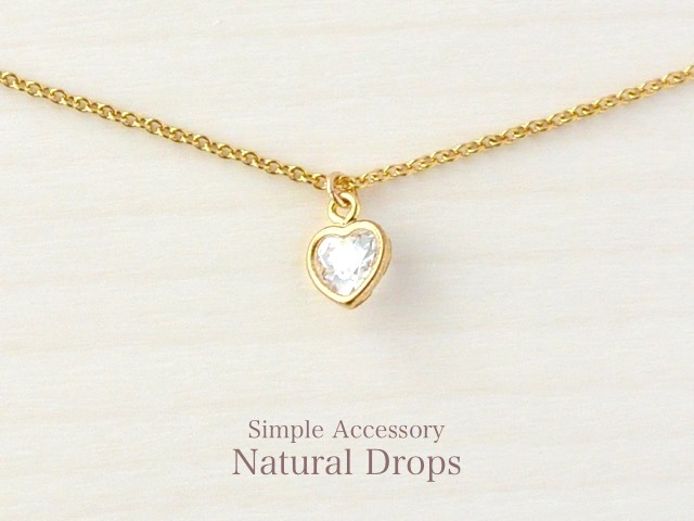 14kgf Heart Zirconia Necklace・・・403