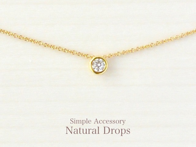14kgf Round Zirconia Necklace������406