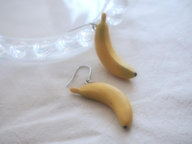 トロピカルフルーツピアス(バナナ)