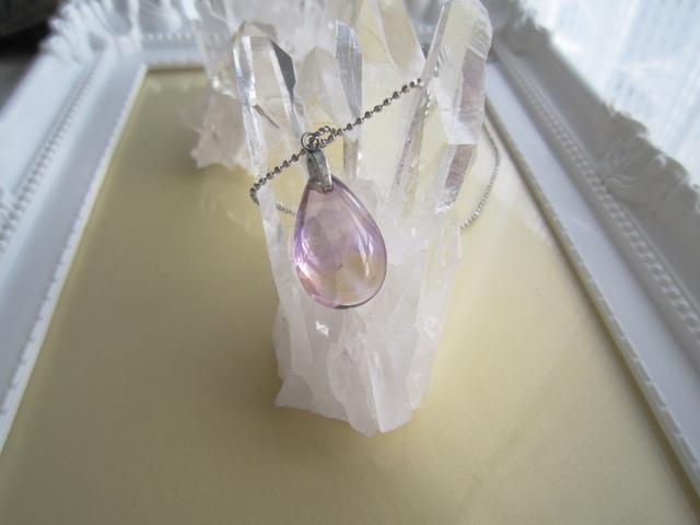 宝石質アメトリンのネックレス