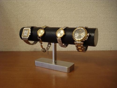 腕時計ケース!4本掛けブラック腕時計スタンド