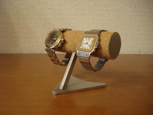 腕時計ケース!2本掛けデザイン腕時計スタンド