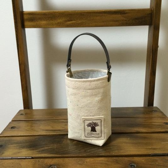 帆布と防水生地【水玉】で携帯ゴミ箱・ゴミ袋