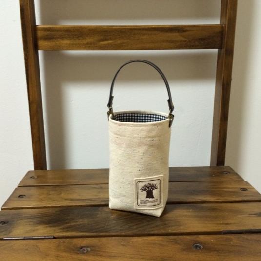帆布と防水生地【チェック】で携帯ゴミ箱・ゴミ袋
