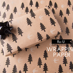 【WRAPPING PAPER】森と鳥(4枚入り/ラッピングペーパー)