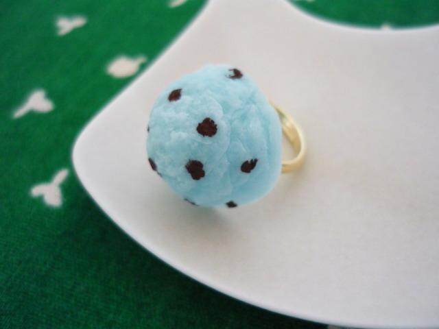 小さなチョコミントアイスのリング