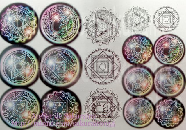 レジン封入用シート :magic circle