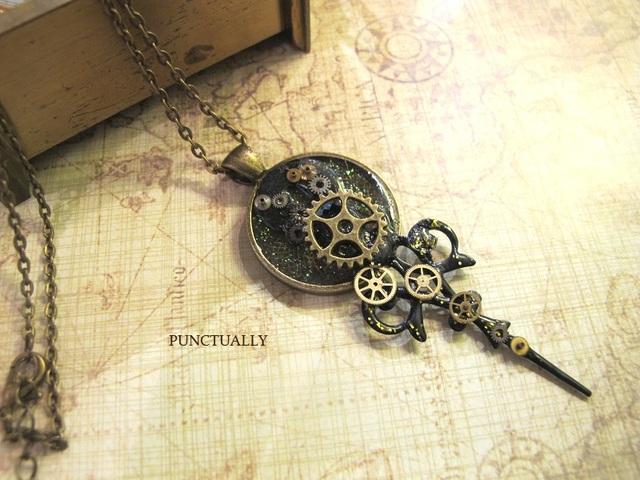 時計の振り子のネックレス (pt-142)  ...