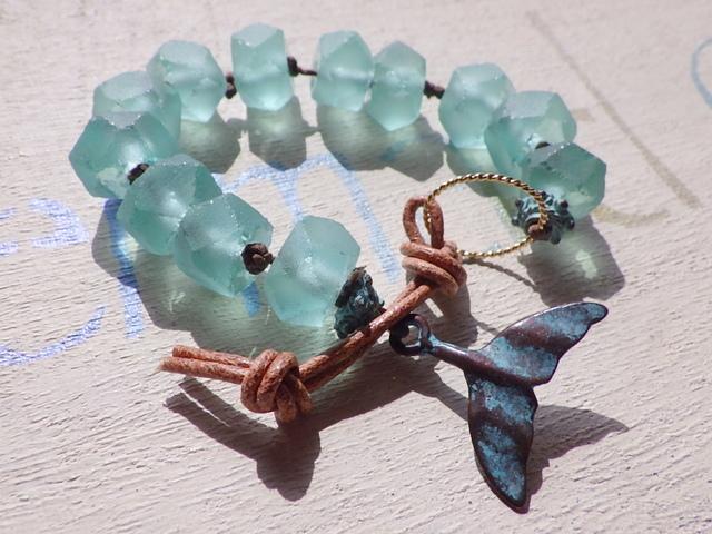 Seaglass Bracelet ll-- Whale Tale