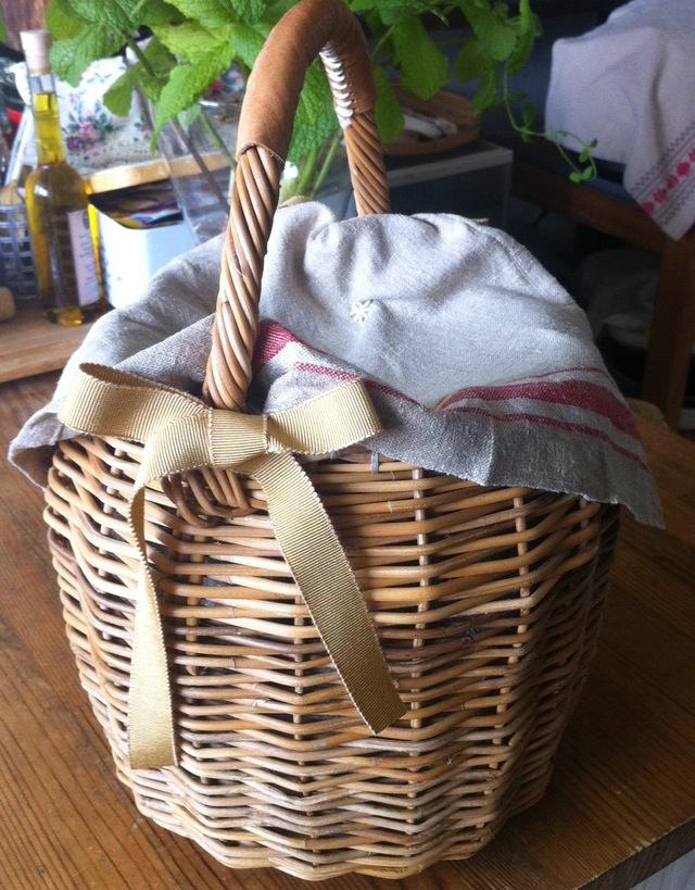 紅籐*手編みお散歩バスケット*かごバッグ no.012