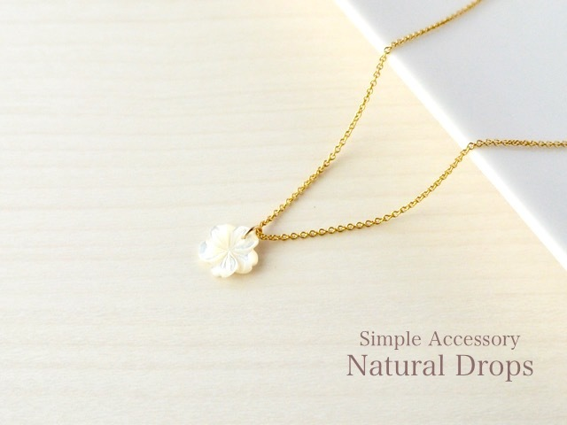 14kgf Flower White Shell Necklace����...