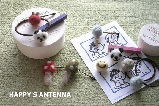 羊毛フエルト ヘアアクセサリー