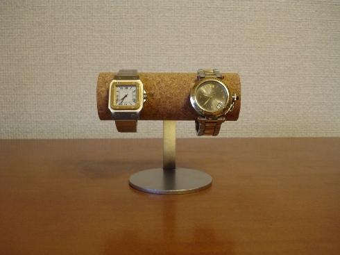 腕時計スタンド 支柱カーブ丸パイプ2本掛け腕時計スタンド ak-design
