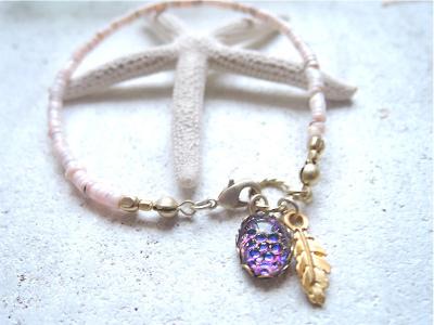 pinkshell bracelet ボルケーノ&ヘリオブルー