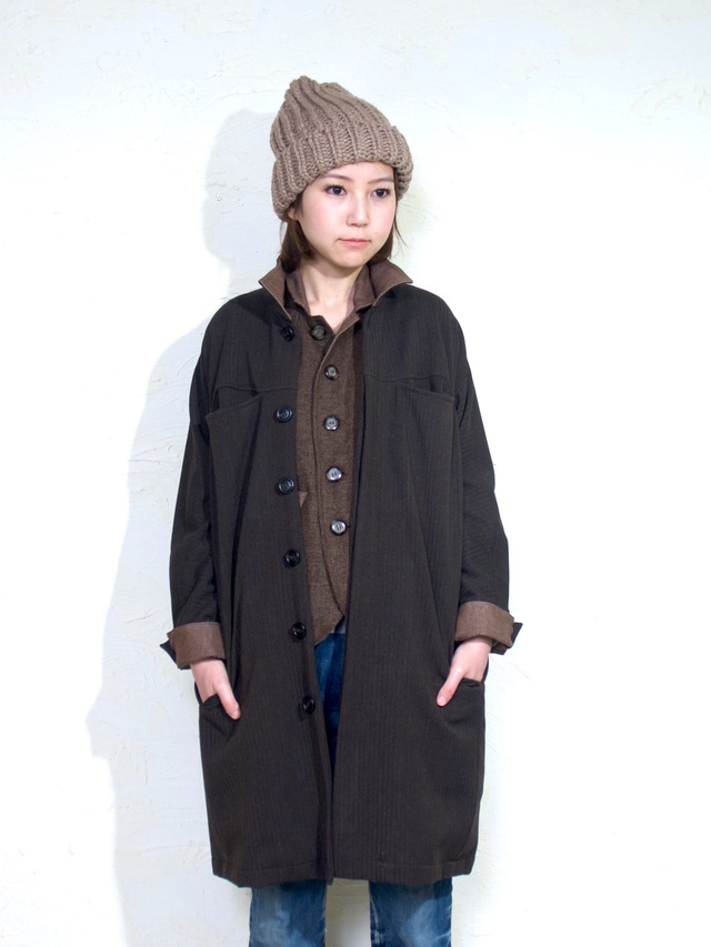 inside-out coat lady`s/ brown
