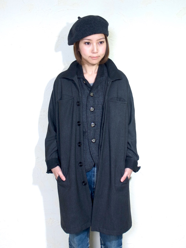 inside-out coat lady`s/ gray
