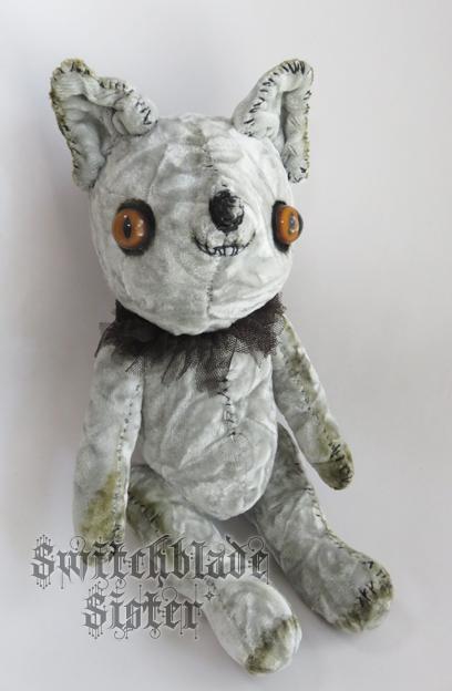 ベルベット猫(シルバーグレイ)