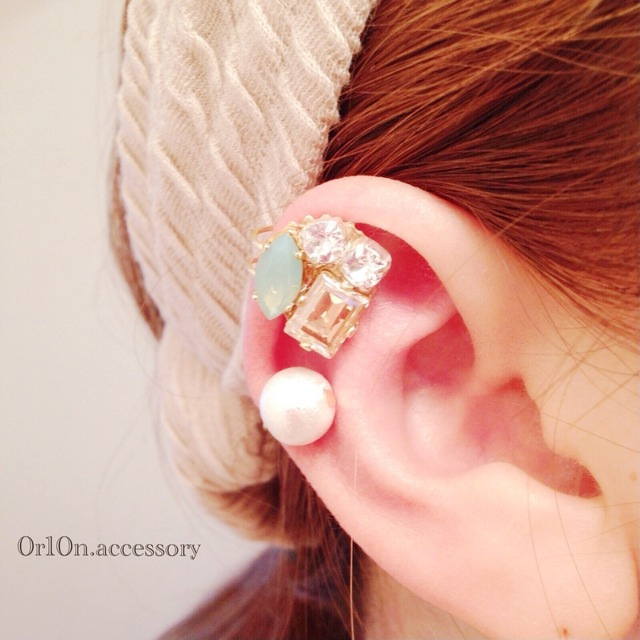 bijou��pearl earcuff.��no/1��