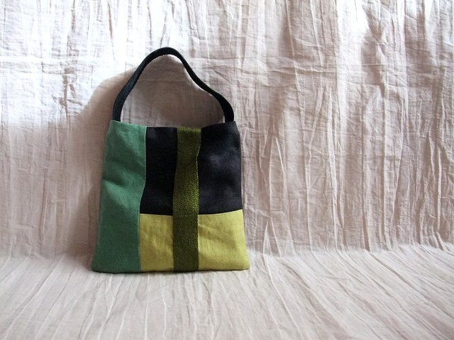 itoiro mini bag (green black)