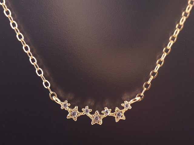 14KGF Seven Stars Necklace