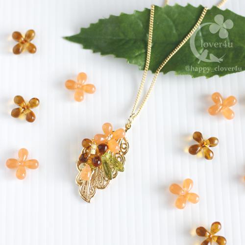 キンモクセイ(金木犀)のネックレス/n291