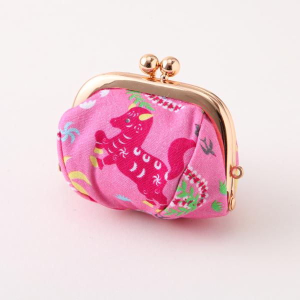 コインケース 馬柄ピンク