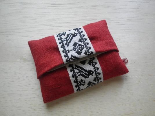 ミニポケットティッシュケース(赤&黒)