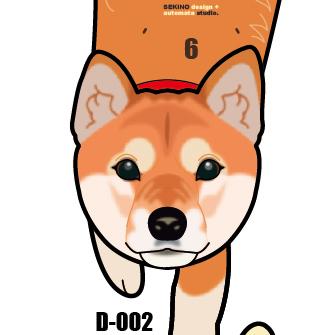 D-002 柴犬-犬の振子時計