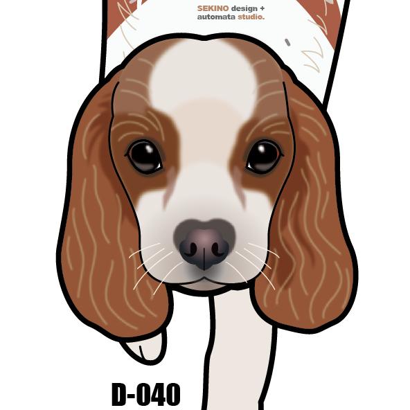 D-040 キャバリア-犬の振子時計