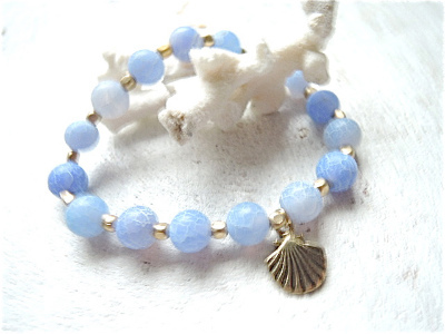 pale blue dragon agate bracelet