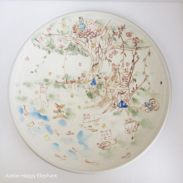 森の暮らし-夏の森- 大皿