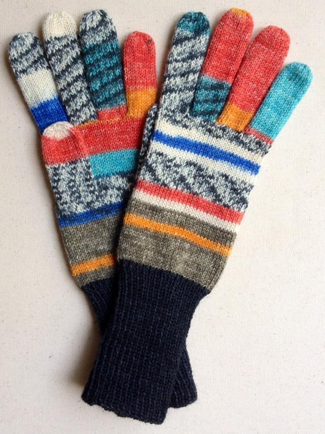 手編み5本指手袋 No.31
