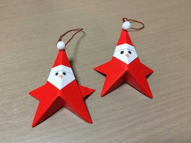 クリスマス 折り紙 サンタクロース 折り紙 : minne.com