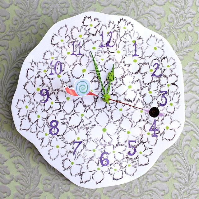 【旧】紫陽花の壁時計