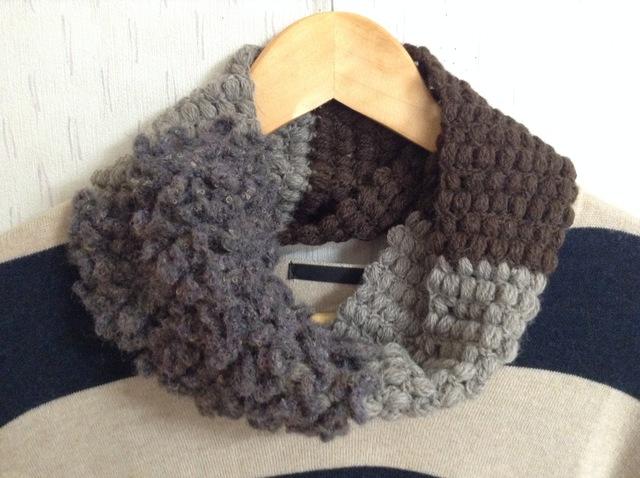 もこもこ玉編みスヌード