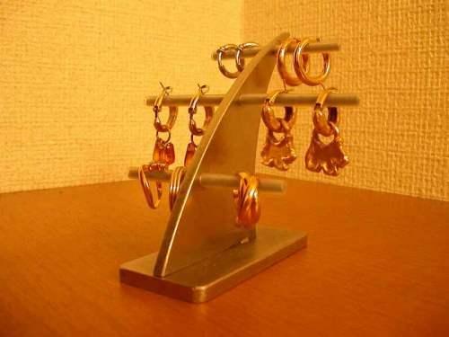 母の日のプレゼントに! イヤリング 収納 3段イヤリングスタンド ak-design