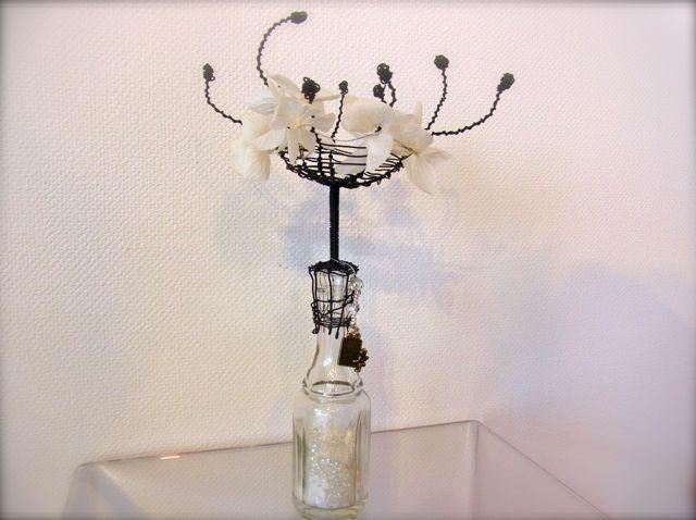 花の雫/ワイヤーと小ビン