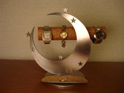 クリスマスプレゼントに!スリー気まぐれスタームーン腕時計&アクセサリースタンド トレイ付き ak-design