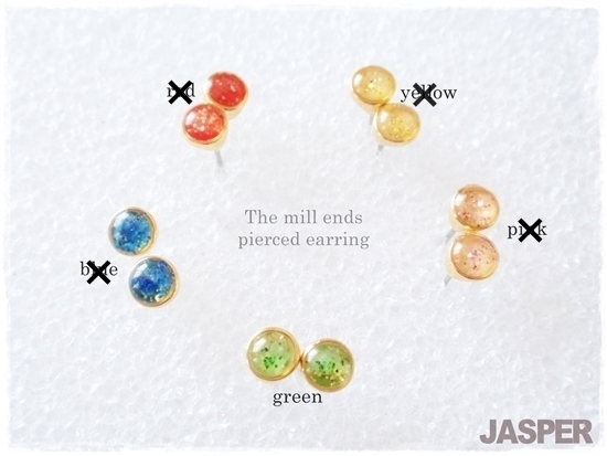 再販*The mill ends pierced earring *HAZAIシリーズ