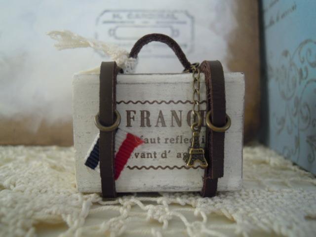 ミニトランク*FRANCE*トリコロール