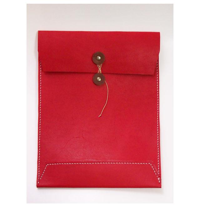 「ご注文品」トスカーナ床革マニラ封筒 白糸