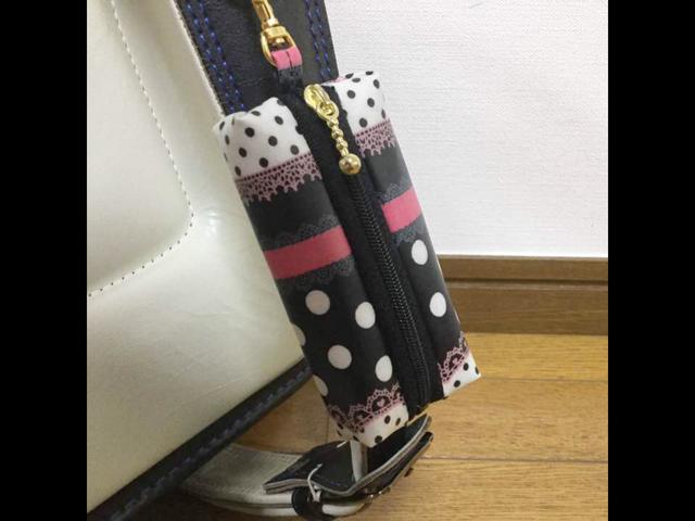ランドセル用キーケース☆ドットボーダ...