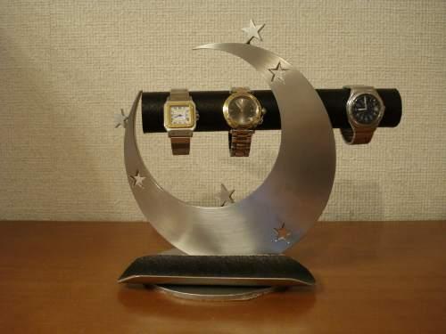 バレンタインデープレゼントに!トリプル気まぐれスター、丸パイプ三日月腕時計スタンド ロングトレイ