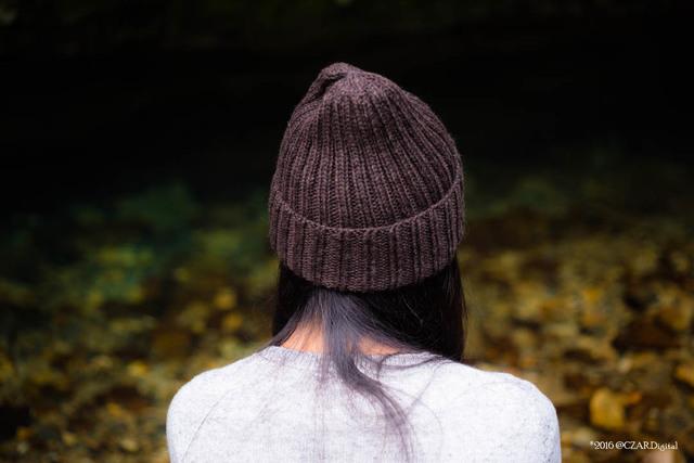 ブラウンリブ編み帽子 by Ōdāmeido