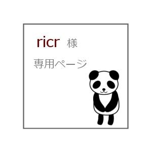 ricr 様 専用ページ