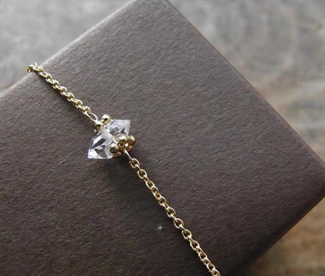k14gf ハーキマー ダイヤモンド ネックレス(一粒)