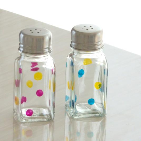 【文字入れ無料】水玉 ソルト&ペッパー